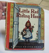 Little Golden Book: Little Red Riding Hood  1948  Wine Edition N Error printing