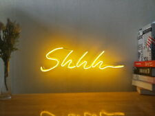 New Shhh Neon Sign For Bedroom Wall Art Home Decor Artwork Light With Dimmer