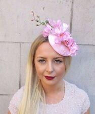 Light Pink Orchid Flower Fascinator Statement Headpiece Hat Races Hair Clip 2549