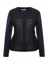 * NEW! * £199 Persona John Lewis Women's Cortesia Scuba Panel Black Jacket UK 14