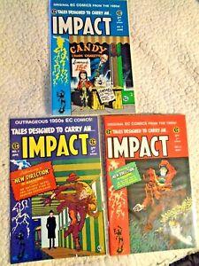 IMPACT # 1, # 2, # 3 * EC REPRINTS * GEMSTONE COMICS Jack Davis Covers~VF-NM 9.0