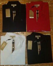 Burberry men's short  sleeve check placket oxford polo shirt  s,m,l,xl,2xl,3xl
