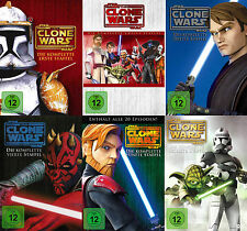 STAR WARS THE CLONE WARS komplette Staffel Season 1+2+3+4+5+6 NEU OVP 25 DVDs