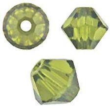 Genuine Swarovski Crystal Bicone. Olivine Color. 3mm. Approx. 144 PCS. 5328