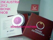 25 euro 2012 Ag Austria Autriche Osterreich BIONIK NIOB