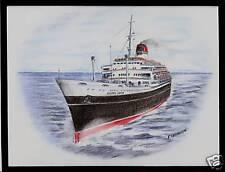 Original Art Work.. tn ANDREA DORIA...ocean liner...Italia.. Bow View