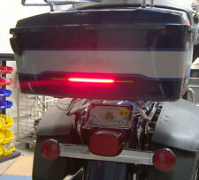 "9.8"" LED Run/Brake/Turn Clear Light Bar & Wiring Harness - H-D FLT FLH Tour-Pak"