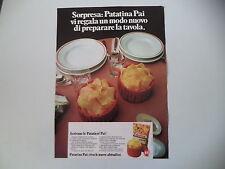 advertising Pubblicità 1972 PATATINE PAI