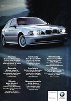2002 BMW 540i - soul -  Classic Vintage Advertisement Ad D12