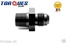 "AN -3 (AN3 AN 03) to 1/8"" NPT Straight Adapter Black"