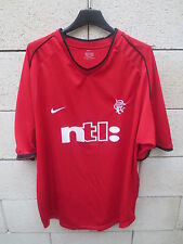 VINTAGE Maillot GLASGOW RANGERS 2002 NIKE away shirt jersey rouge XL