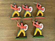 fünf alte Indianer, Spielzeug, Deko (G)18406