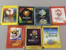 pochettes panini wc 2002.2006.2010.2014 euro 2004.2008.2012