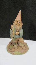 "1985 Tom Clark Troutman 8"" Gnome Figure Statue Signed & Numbered Fishing Angler"
