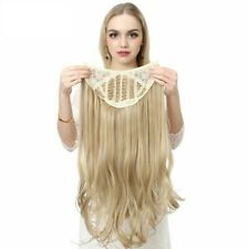 U-Part Synthetic Hair Extension Clip In Long Thick Curly Wavy Blond Hairpieces
