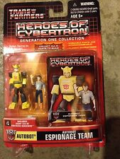 Transformers Heroes of Cybertron ESPIONAGE TEAM Bumblebee Spike Figure NEW