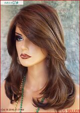 """BOBBI"" LACE FRONT MONOFILAMENT WIG AUTHENTIC ENVY WIGS COLOR MEDIUM BROWN E597"