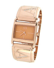 ARMANI EXCHANGE LADIE'S SIGNATURE CRYSTALS ROSE GOLD WATCH AX3119