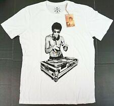 BOW & ARROW BRUCE LEE DJ T-shirt Gold Foiled Tee Adult Men's 2XL New