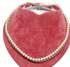 Perlen-Kette- Double eigefasst 29g  (k2886)