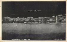 "c1910 ""Night In St Louis"" River Front and Sky Line, Missouri Postcard"