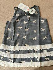 Hatley 'Horses & Flowers' Chambray layered dress Age 8