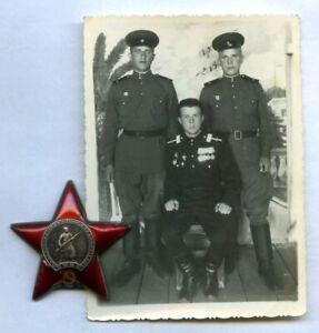 SOVIET WWII Award ORDER RED STAR #2950260 LOW NUMBER 1943 Stalingrad