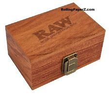 RAW Maple Wood Rolling Paper Storage Box w/ Magnetic Compartment Limited Edition