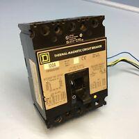 Square D FHP361001380 100A Circuit Breaker w/ Shunt & Aux 600V FHP36100 100 Amp