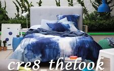 SHERIDAN CHROMA QUEEN QUILT COVER SET IN COBALT  (FULLY REVERSIBLE) BRAND NEW