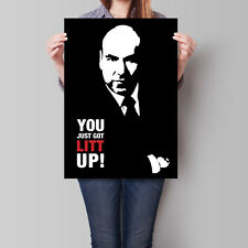 Suits Poster Louis Litt Wall Art Iconic Stylized Stencil A2 A3