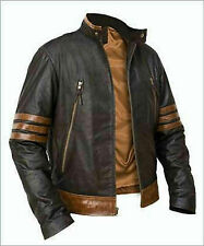 X-MEN WOLVERINE BROWN SHEEP SKIN REAL LEATHER JACKET