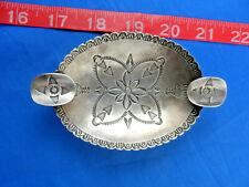 Southwest Native American Indian Stampings Silver Souvenir Dish Ashtray Navajo