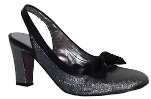 Luc Berjen Lame Slingbacks Shoes Sandals Various Colour Sizes NIB SP £165
