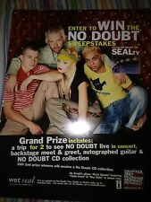 No Doubt Ultra rare poster Promotional PROMO Wet Seal Contest double sided 20x30