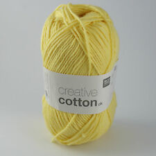 Rico Creative Cotton DK - 100% Cotton Knitting & Crochet Yarn - Light Yellow 003
