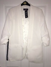 M&S Limited Collection White Jacket Black Stripes size 12 NEW RRP £49.50