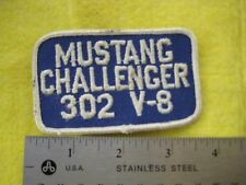 Vintage Ford Mustang Challenger 302 V-8 Patch