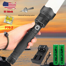 Rechargeable 120000 lumens XHP70.2 Most powerful LED Flashlight USB Zoom Torch