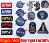 NASA USA Logo Space ship Spaceman Patch Iron On / Sew On Patch Badge