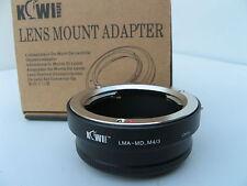 Kiwi Adaptateur LMA-MD-M4/3 Micro Quatre Tiers New in Box MINOLTA pour OLYMPUS