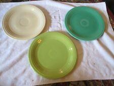 """Vintage Fiestaware 9 1/2 """" plates Vintage Homer Laughlin Fiesta"""