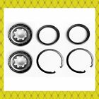 Front Wheel Bearing Seal Wsnap Ring For 1987-1999 Toyota Tercel Pair New