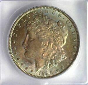 1888 MORGAN SILVER DOLLAR ICG MS 65 IRIDESCENT TONING!! LISTS FOR $230!!