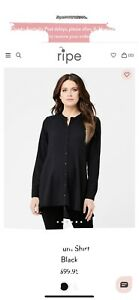 ripe maternity xl - Black Peplum Shirt