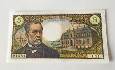 Billet 5 Francs Pasteur 1966