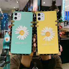 Fr iPhone 12 11 XS Samsung Note20 S20 Flower Girls Square Strap Phone Case Cover
