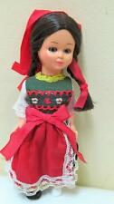 Vintage Small Hard Plastic Doll with Original Clothing