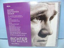 RICHTER THE MASTER, Volume 6: HAYDN/BEETHOVEN/WEBER Sonatas, 2 CDs  Decca, New