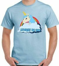 Central Intelligence T-Shirt Unicorn The Rock  Dwayne Johnson Mens Funny TEE TOP